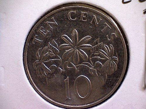 1993 SINGAPORE TEN CENTS