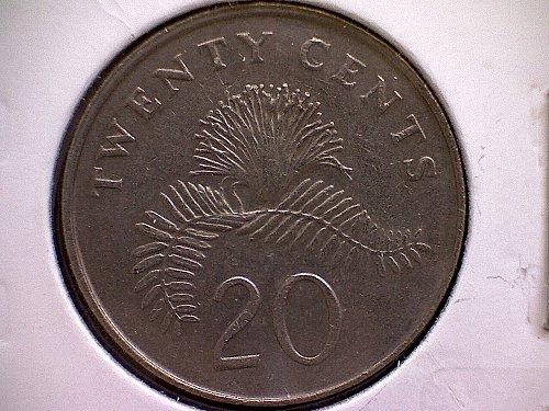1991 SINGAPORE TWENTY CENTS