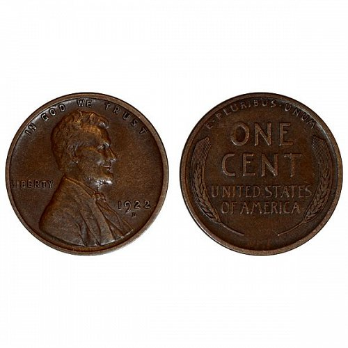 1922 D Lincoln Wheat Cent - XF