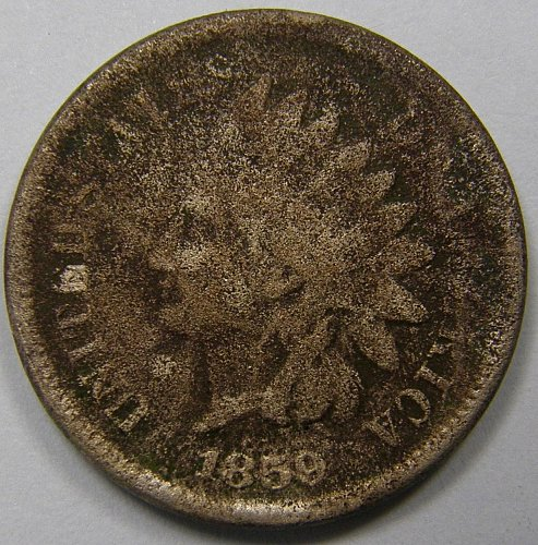 1859 Indian Head Cent #12