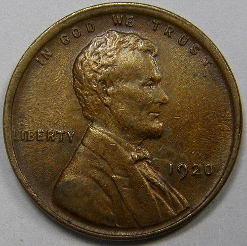 1920 P Lincoln Wheat Cent #1