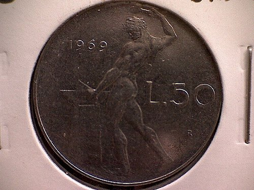 1969-R  ITALY FIFTY LIRE