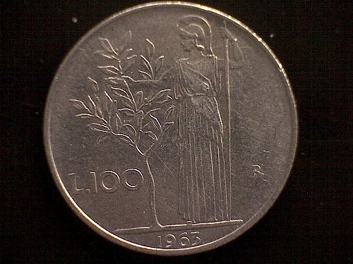1963-R ITALY ONE HUNDRED LIRE