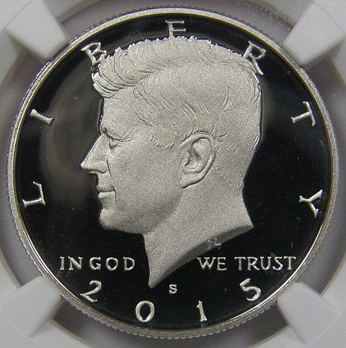 2015 S Kennedy Half Dollar NGC UCAM69