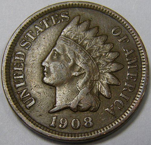 1908 P Indian Head Cent #11