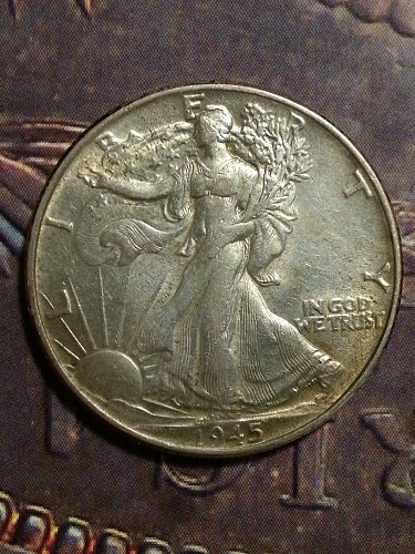 1945 Walking Liberty Half