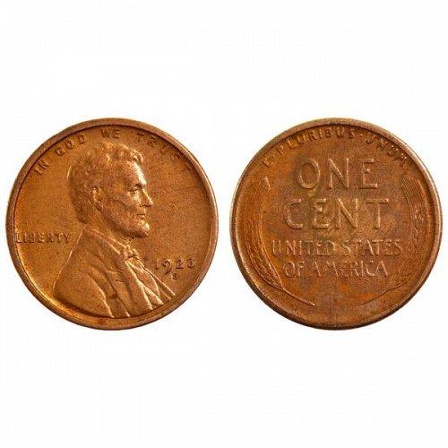 1923 S Lincoln Wheat Cent - AU