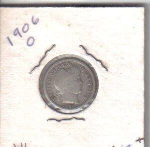 1906 O  BARBER DIME
