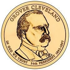 2012 D  GROVER CLEVELAND GOLDEN DOLLAR