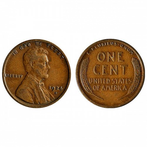 1924 S Lincoln Wheat Cent - XF