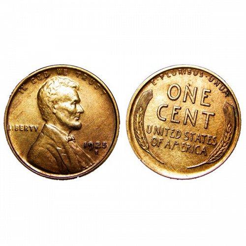1925 S Lincoln Wheat Cent - AU / BU