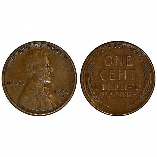1926 S Lincoln Wheat Cent - XF