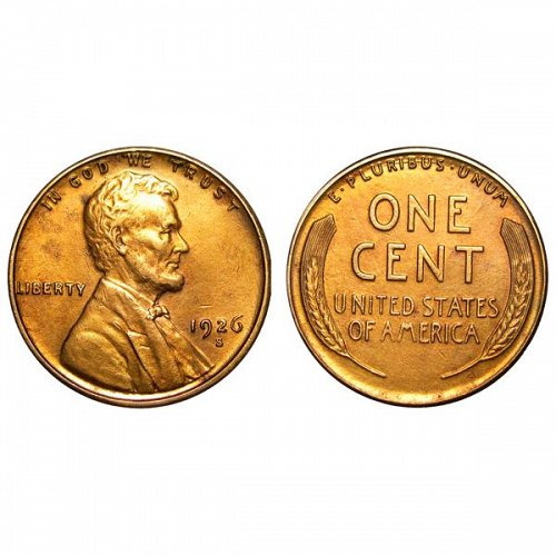 1926 S Lincoln Wheat Cent - AU / BU