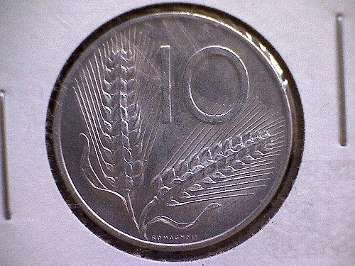 1954-R ITALY  TEN LIRE