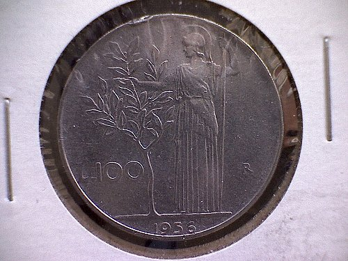 1956-R ITALY ONE HUNDRED LIRE