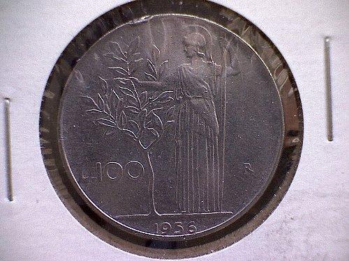 1956-R ITALY ONE HUNDRED LIRE