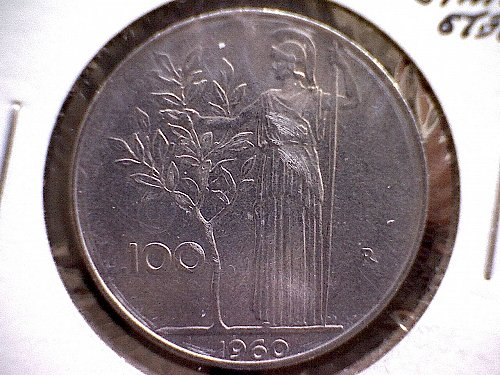 1960-R ITALY  ONE HUNDRED LIRE