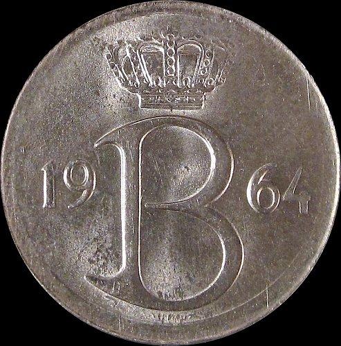 Belgium 1964 25 Centimes Baudouin I