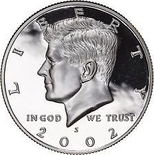 2002 S  SILVER PROOF KENNEDY HALF DOLLAR