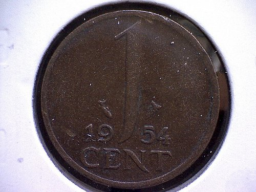 1954 NETHERLANDS ONE CENT