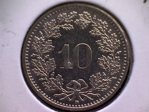 1996-B SWITZERLAND TEN RAPPEN