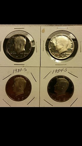 4-Kennedy half dollar proofs 1977-s,79-s,80-s,and 84-s