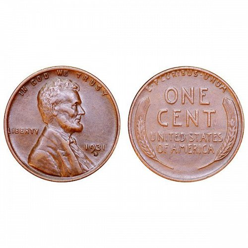 1931 D Lincoln Wheat Cent - AU