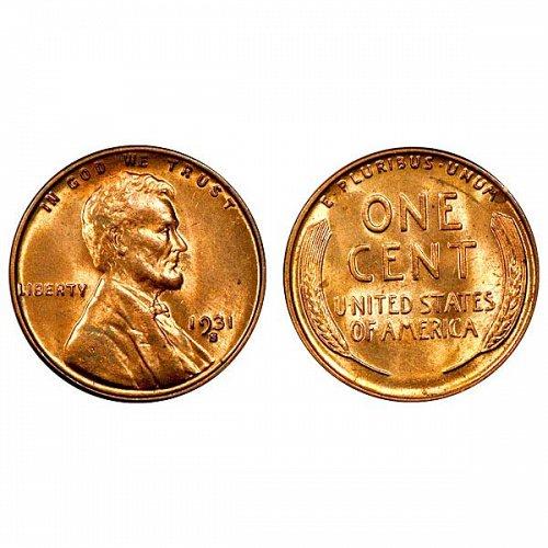 1931 S Lincoln Wheat Cent - Gem BU