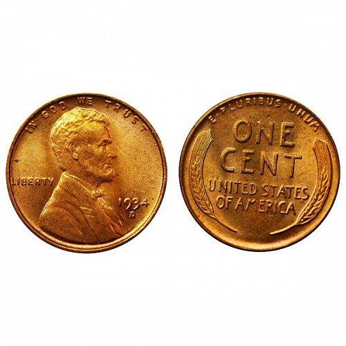 1934 D Lincoln Wheat Cent - Gem BU