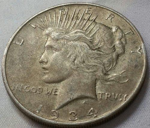1934 D Peace Dollar - XF