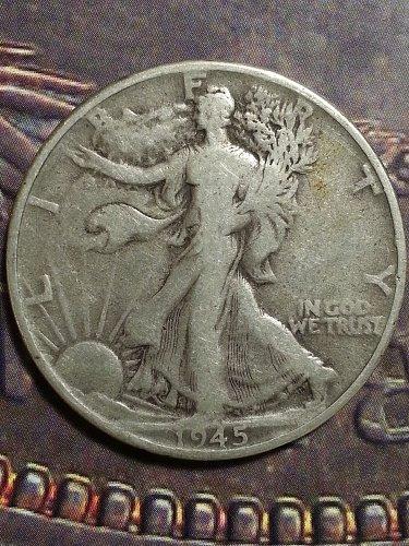 1945 Walking Liberty Half
