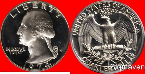 1974s quarter proof