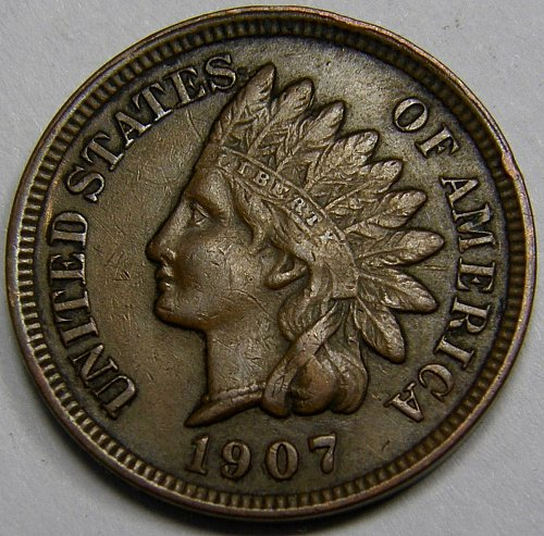 1907 Indian Head Cent #17