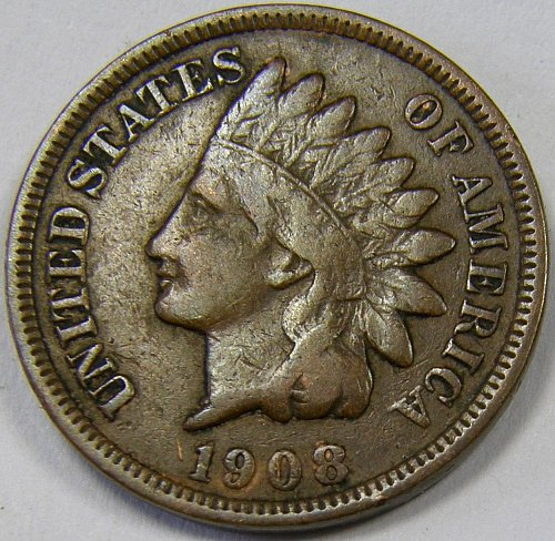 1908 P Indian Head Cent #12