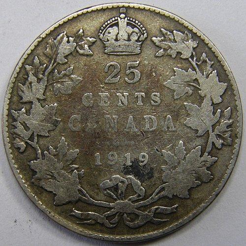 1919 Canada 25¢ SILVER