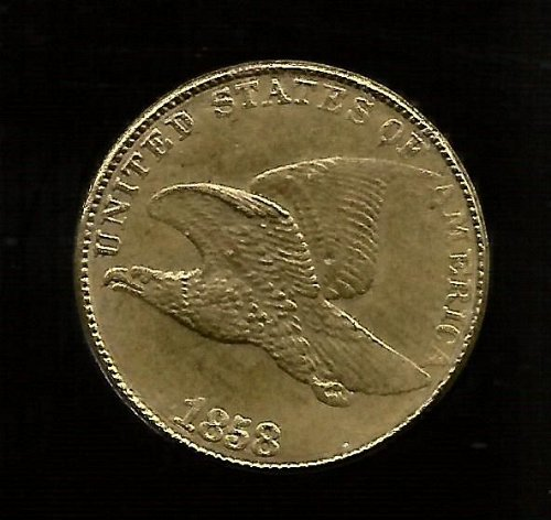 1858 Flying Eagle Cent Exact Copy
