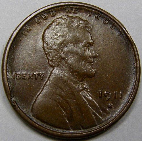 1911 S Lincoln Wheat Cent #7