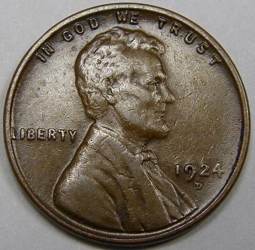 1924 D Lincoln Wheat Cent #6