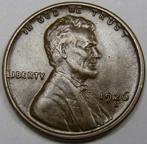1926 S Lincoln Wheat Cent #10