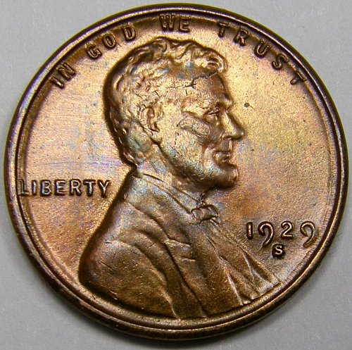 1929 S Lincoln Wheat Cent #8