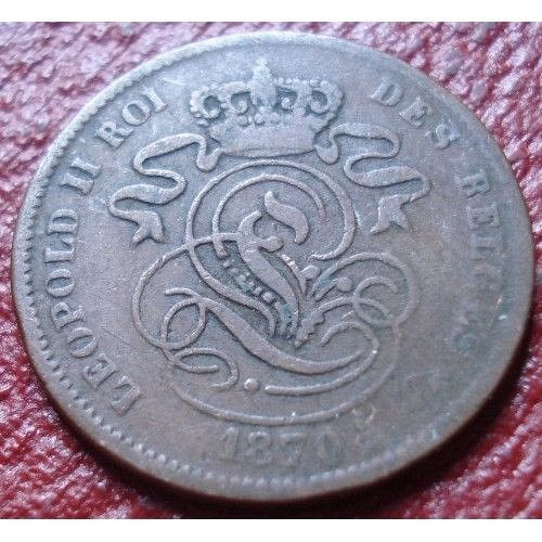 1870 belium 2 centimes