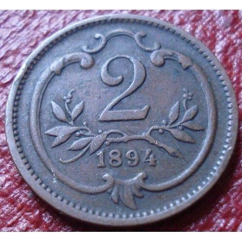 1894 AUSTRIA 2 heller