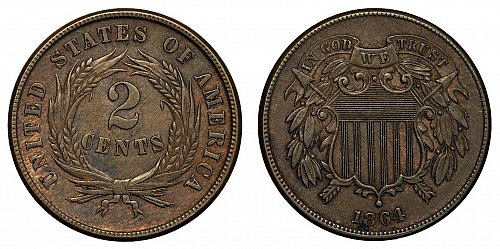 USA 2 cent 1864 Shield
