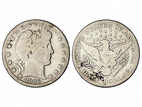 USA 1896 S - Barber half dollar