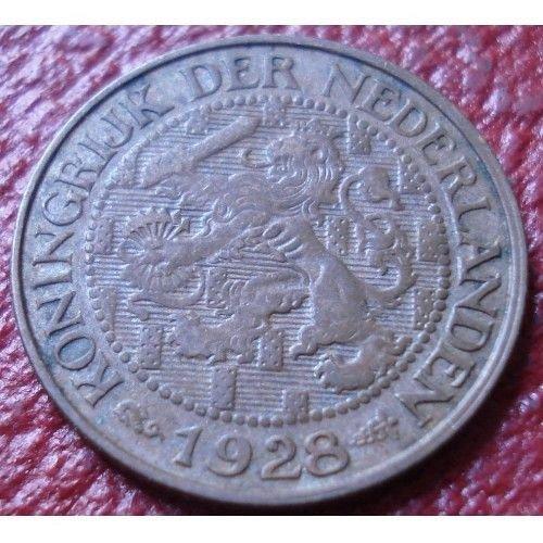 1928 nertherlands 1 cent