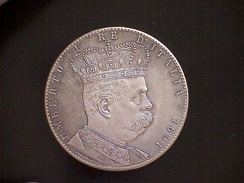 1891  ERITREA  ONE TALLERO (5 LIRE)
