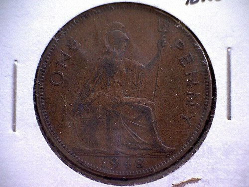 1948 GREAT BRITAIN ONE PENNY KING GEORGE V1