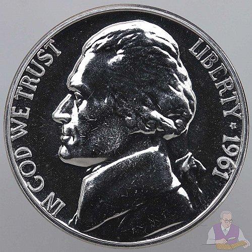 1961 1962 1963 1964 Gem Proof Jefferson Nickels!!!  4 Nickels