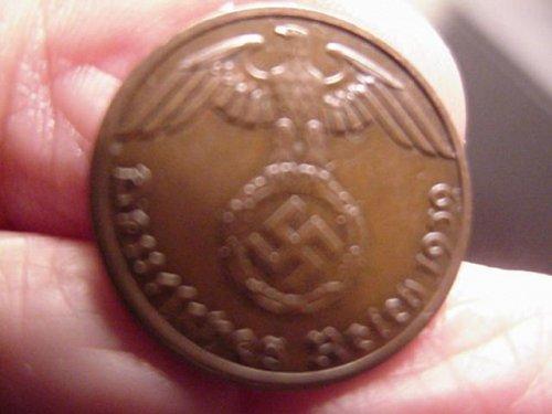 1939 greaman 1 pfenning (swastika)