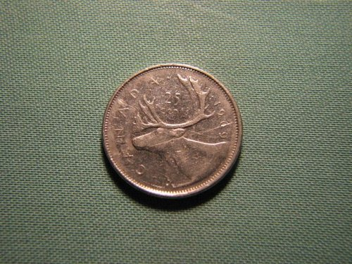 1969 Canada 25 cents